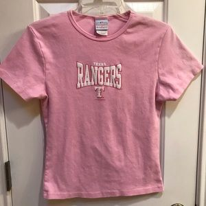 Texas Rangers MLB Pink Tee T-Shirt Size Large